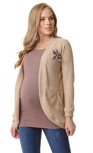 "Picture of Cardigan ""Omega"" for pregnant and lactating; color: sand"