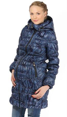 """Изображение Демисезонная куртка """"Синти""""  2в1  сапфир для беременных, обычная куртка"""