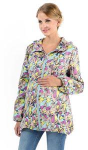 """Image de   Демисезонная куртка  """"Петра"""" орхидеи на бирюзе для беременных"""