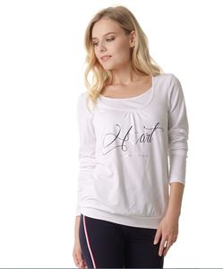 "Picture of T-shirt long sleeve ""Gabija"" Maternity and nursing; color: milky"