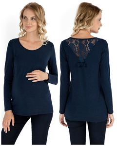 Picture of  Naira Maternity Long Sleeve T-Shirt dark blue