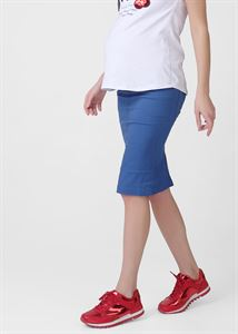 Picture of Madison skirt for pregnant women; color: blue