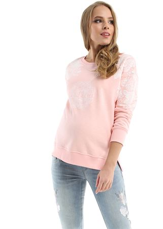 Picture of New York sweatshirt for pregnant women; color: powdery