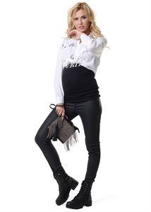 """Obrázek Kalhoty """"York"""" pro těhotné ženy; barva: černý materiál """"eko-kůže"""""""
