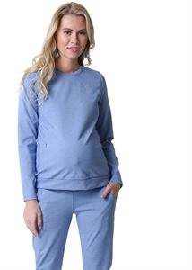 "Picture of Suit ""Amelia"" for pregnant and nursing; color: denim blend"