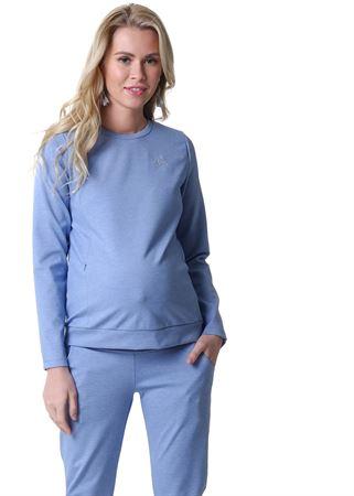 """Bild von Anzug """"Amelia"""" für Schwangere und Stillende; Farbe: Denimmischung"""