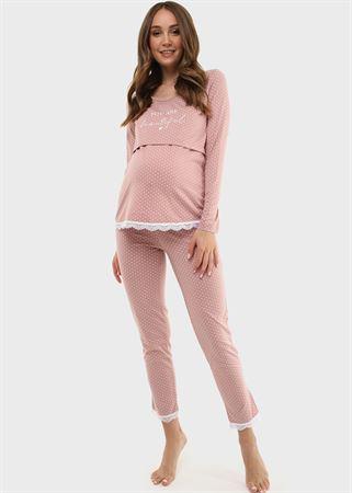 """Изображение Комплект для дома """"Дагна"""" для беременных и кормящих; цвет: пыльная роза"""