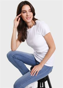 "Picture of T-shirt ""Vesta"" for pregnant and lactating; White colour"