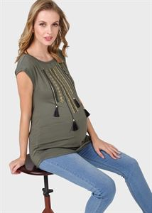 "Picture of T-shirt ""Dyson"" for pregnant women; khaki"