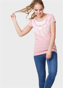 "Picture of T-shirt ""Agna"" for pregnant and lactating; color: powdery"