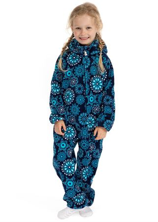 "Picture of Jumpsuit fleece ""Classic"" blue with snowflakes"