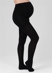 Bild von Strumpfhose für Schwangere 450 den mit einem erwärmten Oberteil und Zehen; Farbe schwarz