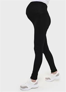 "Picture of ""Alden"" Maternity black insulated leggings"