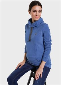 Picture of Riley Maternity And Nursing Sweatshirt color: denim