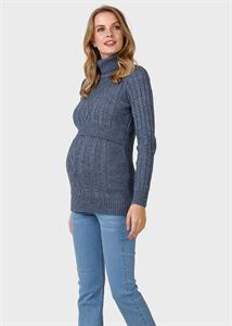 "Picture of Jumper ""Miranda"" for pregnant and lactating; color: light denim"