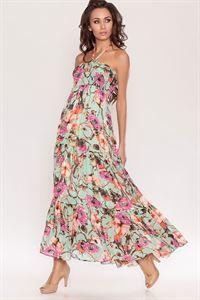 Bild von Sommerkleid DSC-02-25 Chiffon Mint Farben Mit Volants