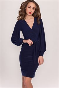Picture of Dress DSP-36-41 dark blue with belt