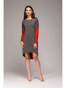 Bild von DM00480GB Kleid Multilevel Zweiweg Koralle-Grau