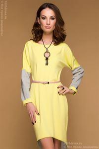 Bild von DM00480GB Kleid Multilevel Zweiweg gelb-grau