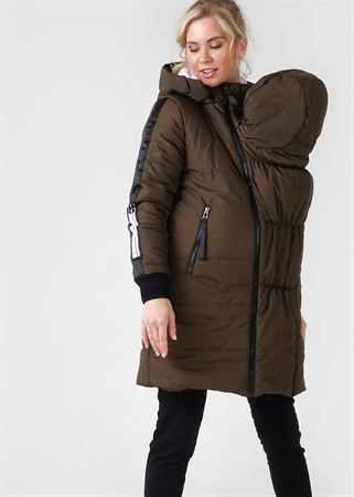 "Picture of Winter jacket 3 in 1 ""Copenhagen"" for pregnant women and babywearing; khaki"