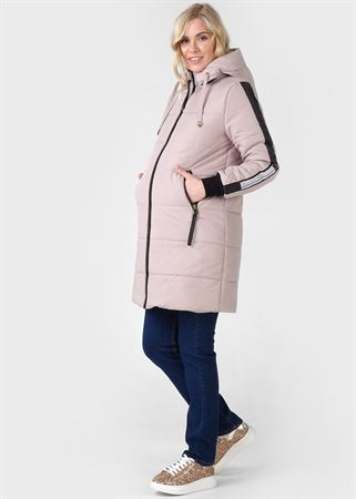 "Picture of Winter jacket 3 in 1 ""Copenhagen"" for pregnant women and babywearing; cream"
