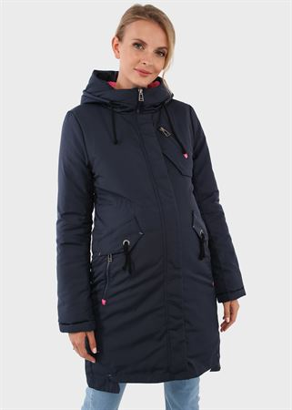 "Picture of Winter jacket 3v1 ""Mexico City"" for pregnant women and babywearing; color: blue"