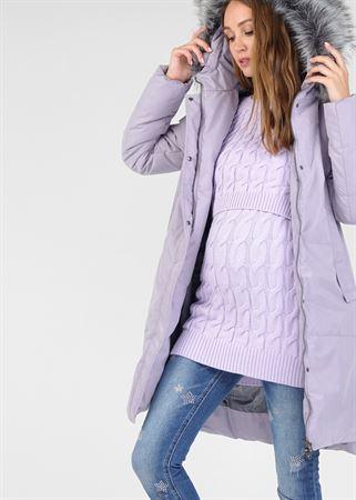 """Изображение  Зимняя куртка 2в1 """"Мюнхен"""" для беременных, обычная; цвет: лиловый"""