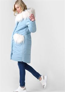 "Picture of Winter jacket 2v1 ""Portofino"" for pregnant women, regular; color: celadon"