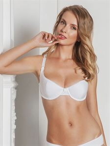Picture of Julia nursing bra with satin cup white article 2101