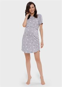 """Bild von Nachthemd """"Melania"""" für schwangere und stillende Frauen; Grau"""