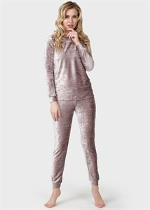 "Picture of Velor tracksuit for pregnant women and feeding ""Magnus""; beige"