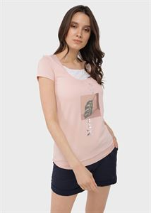 """Image de T-shirt """"Agna"""" pour les femmes enceintes et allaitantes; couleur: poudré"""