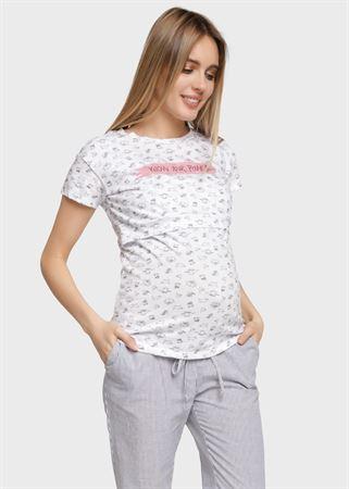 """[translate] Изображение T-shirt """"Nika"""" pour les femmes enceintes et allaitantes; couleur: chats"""