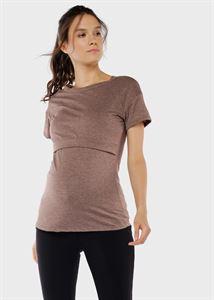 """Image de T-shirt d'allaitement """"Dani""""; café"""