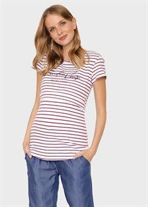 """Bild von T-Shirt """"Helen"""" für schwangere und stillende Frauen; roter Streifen"""