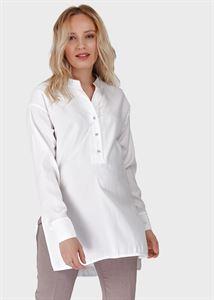 """Image de Blouse (chemise) à manches longues pour femmes enceintes et allaitement """"Zara""""; blanc"""
