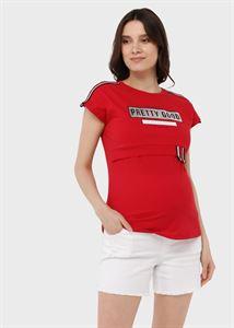 Bild von Lana Mutterschafts- und Still-T-Shirt; rot