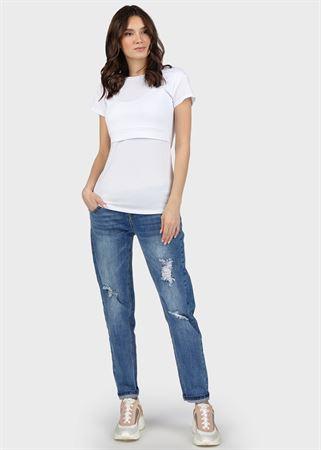 """[translate] Изображение T-shirt """"Dani"""" pour l'allaitement; couleur: blanc"""