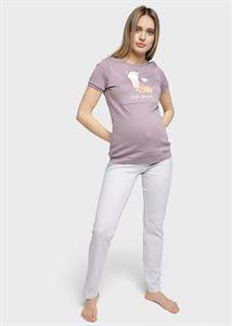 """Image de Kit maison """"Steve"""" pour femmes enceintes et allaitantes; couleur: rayures de café"""