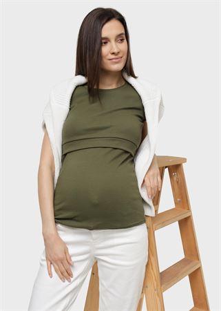 """[translate] Изображение T-shirt """"Vesta"""" pour femmes enceintes et allaitantes; kaki"""