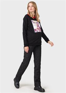 Image de Pantalon chaud «Luigi» pour les femmes enceintes; le noir