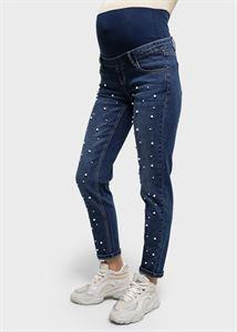 """Bild von Jeans """"Style 076"""" Perlen für Schwangere; dunkler Denim"""