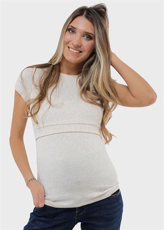 """[translate] Изображение T-shirt """"Vesta"""" pour femmes enceintes et allaitantes; couleur beige"""