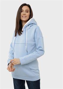"""Obrazek Bluza ocieplana """"Edelia"""" dla kobiet w ciąży i karmiących; niebieski kolor"""