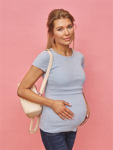 """Bild von T-Shirt """"Vesta"""" für schwangere und stillende Frauen; blaue Farbe"""