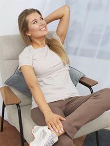 Image de T-shirt d'allaitement Dani; couleur beige