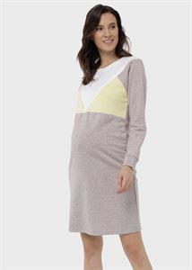 """Obrazek Sukienka """"Eriel"""" dla kobiet w ciąży i karmiących; Kawa"""