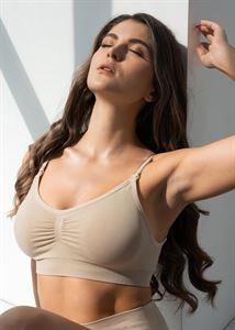 """Bild von Nahtloser BH """"Candice"""" für Schwangere und Stillende; Farbe: beige"""
