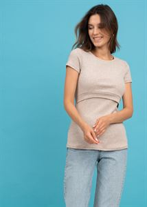 """Bild von T-Shirt """"Vesta"""" für schwangere und stillende Frauen; Farbe Beige"""